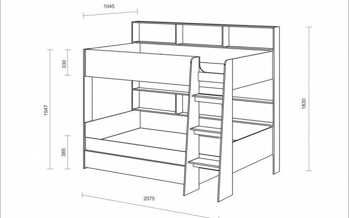 Длина кровати: 2075 мм