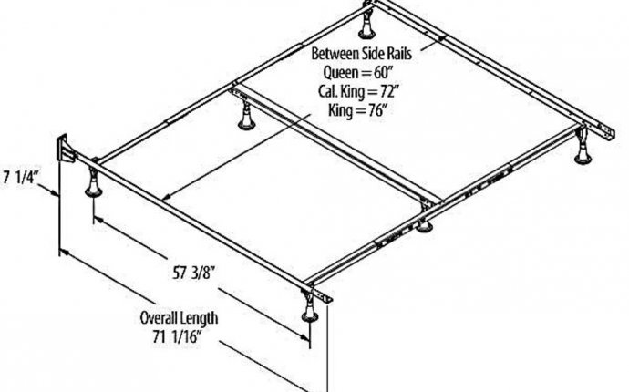 King size bed frame dimensions