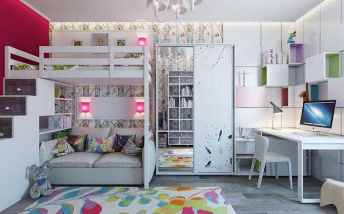Детская комната с двухъярусной